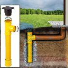 Met de infiltratieput met aanvoer/ afvoer kunt u overal regenwater afvoeren, ook op plaatsen waar geen riool aanwezig is.