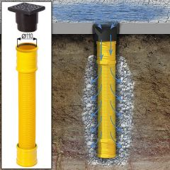 Met de infiltratieput kunt u overal regenwater afvoeren, ook op plaatsen waar geen riool aanwezig is.