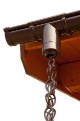 Dakgootketting voor aan uw dakgoot van een tuinhuis, blokhut, chalet, garage of carport.