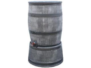 Kunststof regenton Roto antraciet 120 liter op voet.
