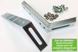 Setje metalen dakhaken - Wij zorgen voor het juiste aantal dakhaken voor bij uw complete dakgoot set!